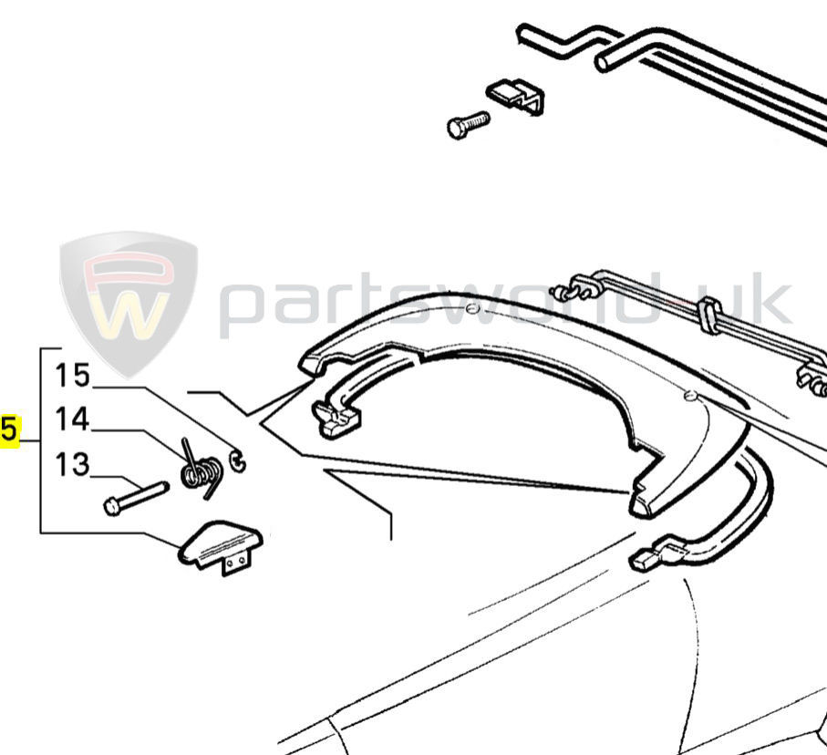 Alfa Romeo 916 Spider 95-06 Offside / Right Roof flap kit