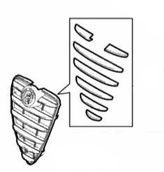 NEW Genuine Alfa Romeo Mito Chrome Effect Radiator Grille