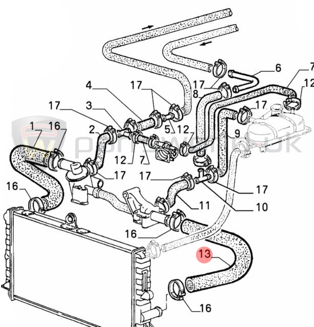 Service manual [1994 Alfa Romeo 164 Heater Hose
