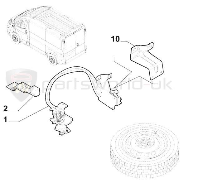 Brand new GENUINE Fiat Spare wheel winch lowering kit 15