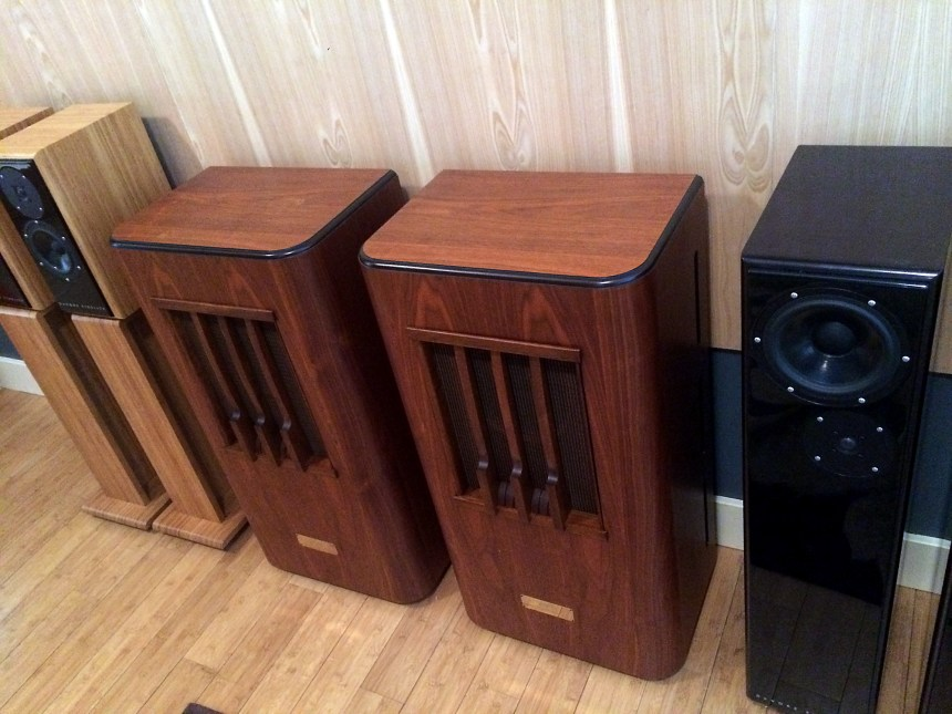 Line Magnetic LM755i Field Coil speakers based on the Western Electric 755A drivers
