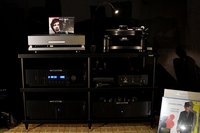 The Solid Steel S4-3 Audio Rack ($899 USD) made its US debut.