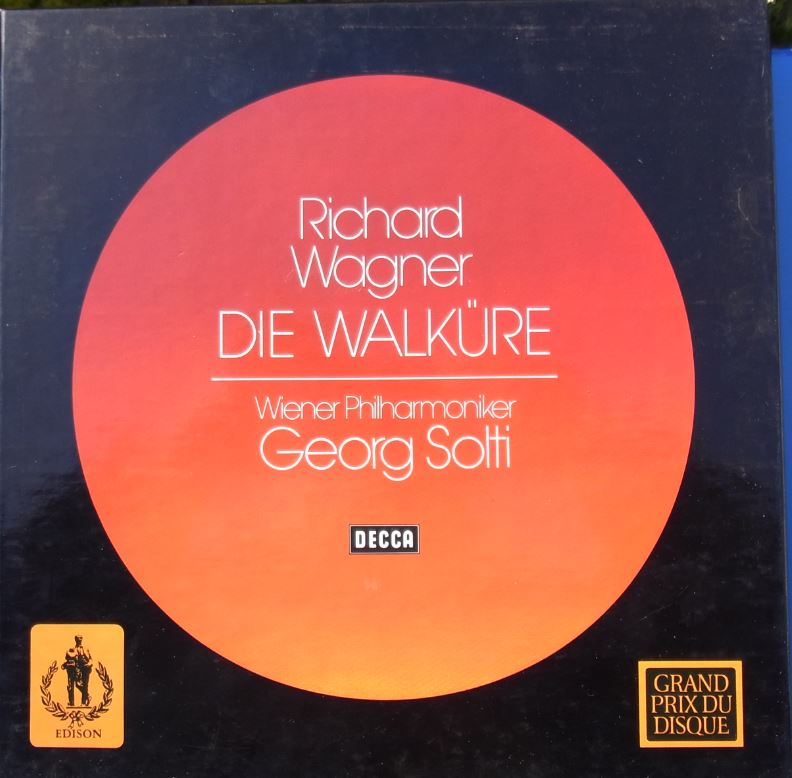 Wagner Die Walkure. Georg Solti, Nilsson, Hotter. WPO. 5 LP. Decca. ft