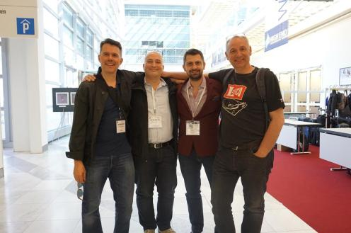 Lenco Heaven's Chris Bayer, Peter Reinders of PTP and Chris Panagiotides of Audiohub.gr