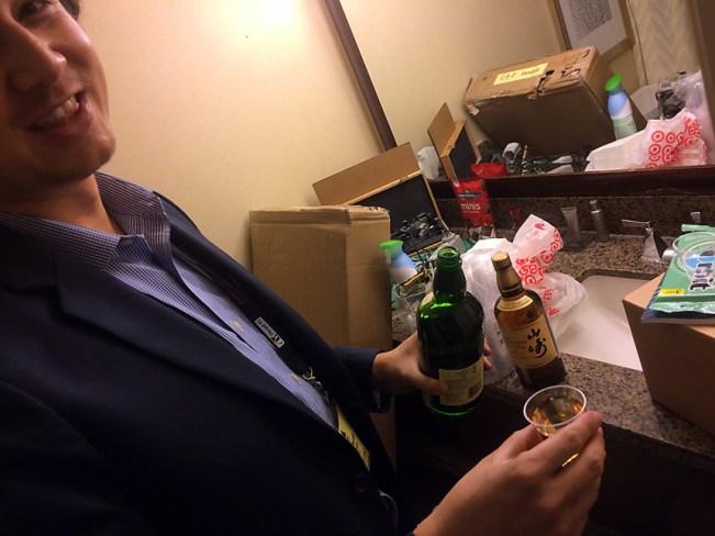 Secret Japanese whiskey pours.