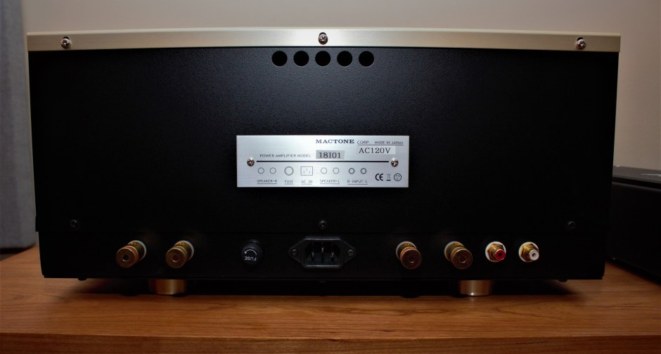 Mactone MH-120 Amplifier rear