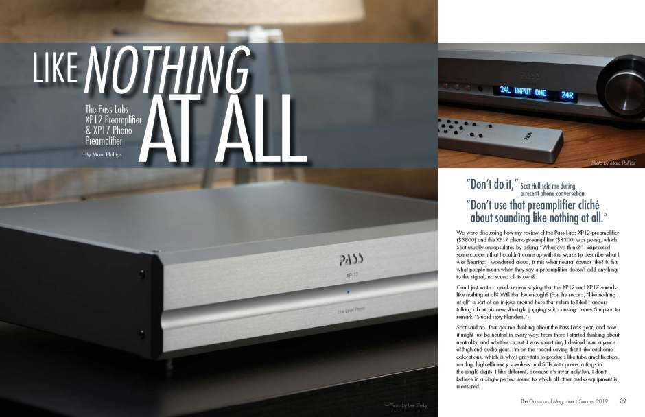 The Occasional Magazine - Pass Labs Phono