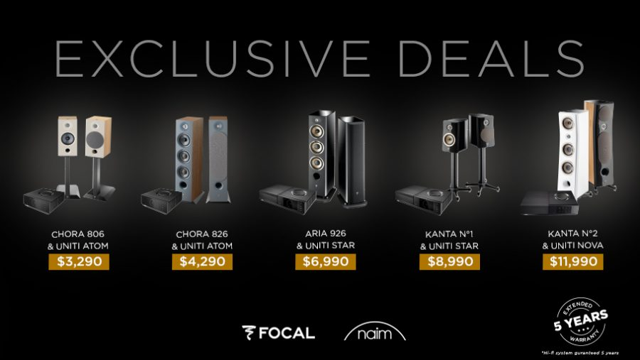 Focal and Naim Offer Premium Music Systems at Special Bundle Prices