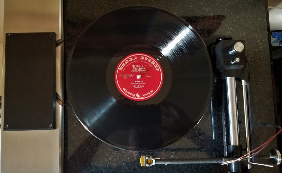 george russell on the turntable