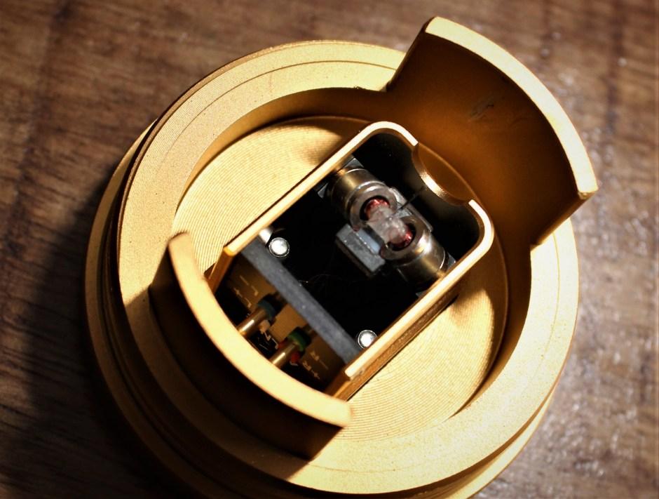 close-up of amber motor