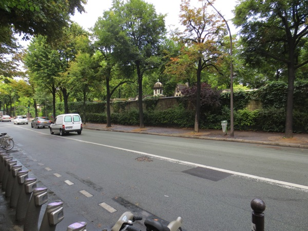 Montparnasse Cemetery wall along Rue Froidevaux