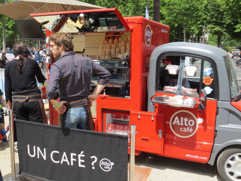 The Alto Café coffee truck - a truck built around an expresso machine