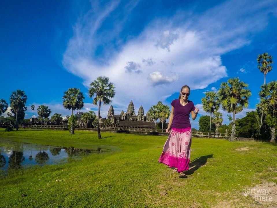 Amanda Plewes at Angkor Wat