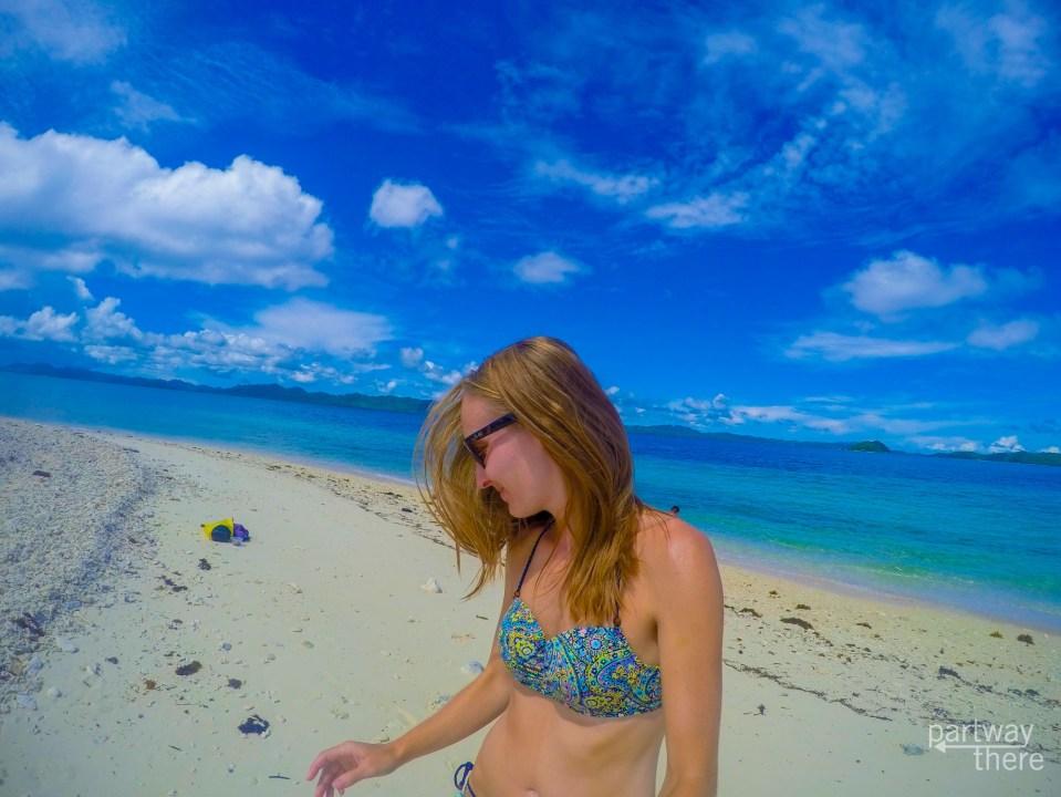 Philippines beach selfie, taken with GoPro