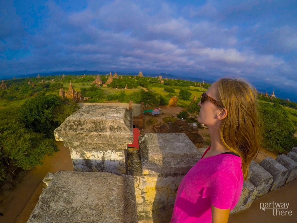 Looking out over Bagan, Myanmar - taken with a GoPro