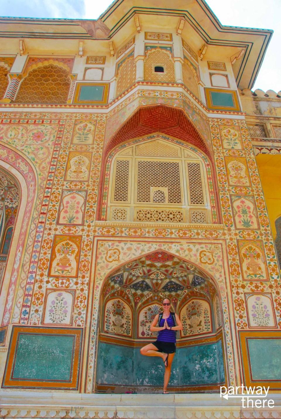 Amanda Plewes at a fort in Jaipur
