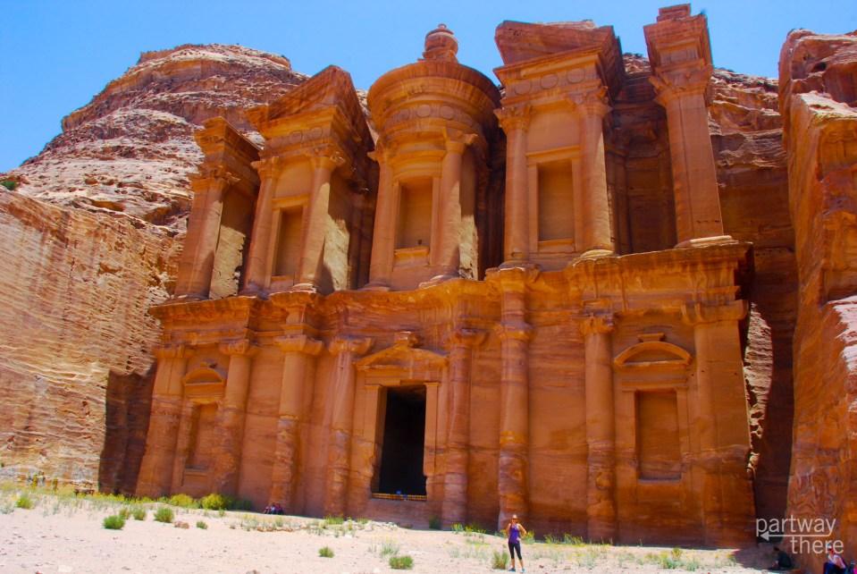 Amanda Plewes at the Petra Monastery