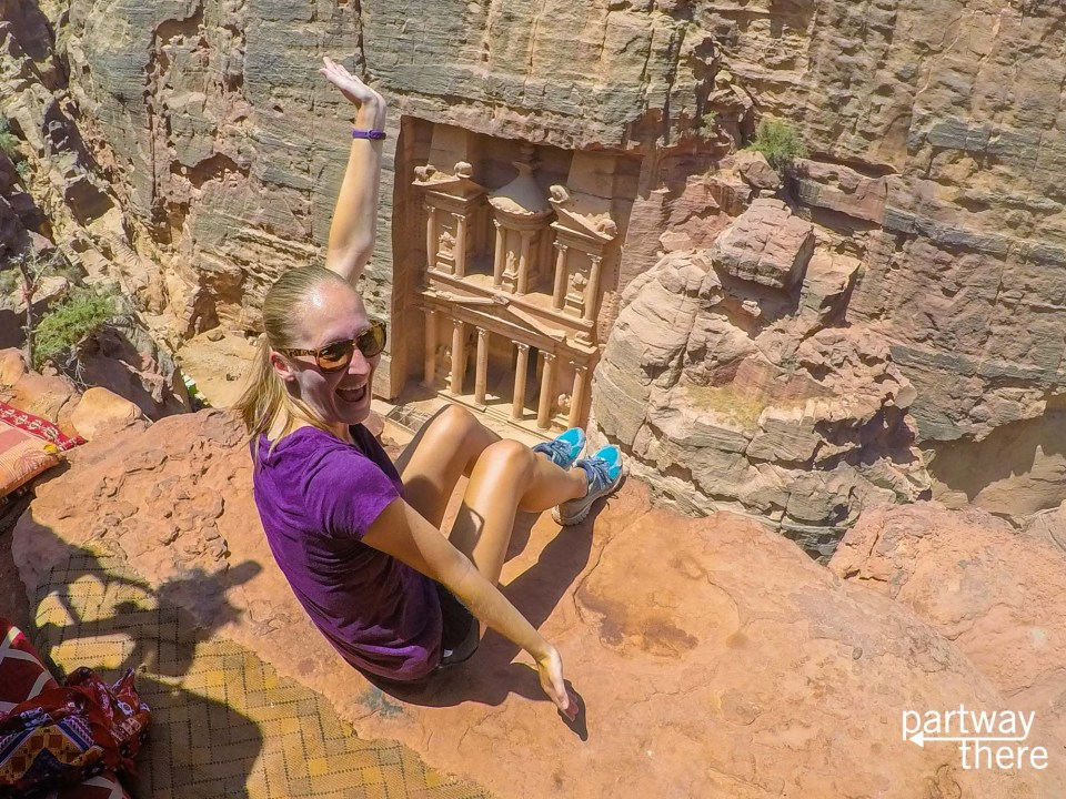 The best vantage for an awesome Petra Treasury picture