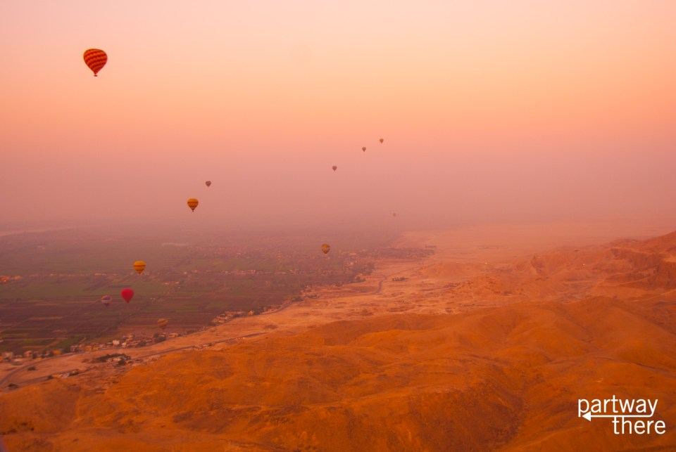 Luxor sunrise hot air balloon ride