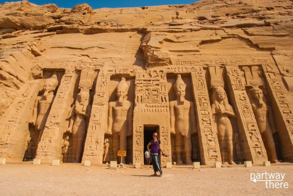 The Temple to Nefertari at Abu Simbel
