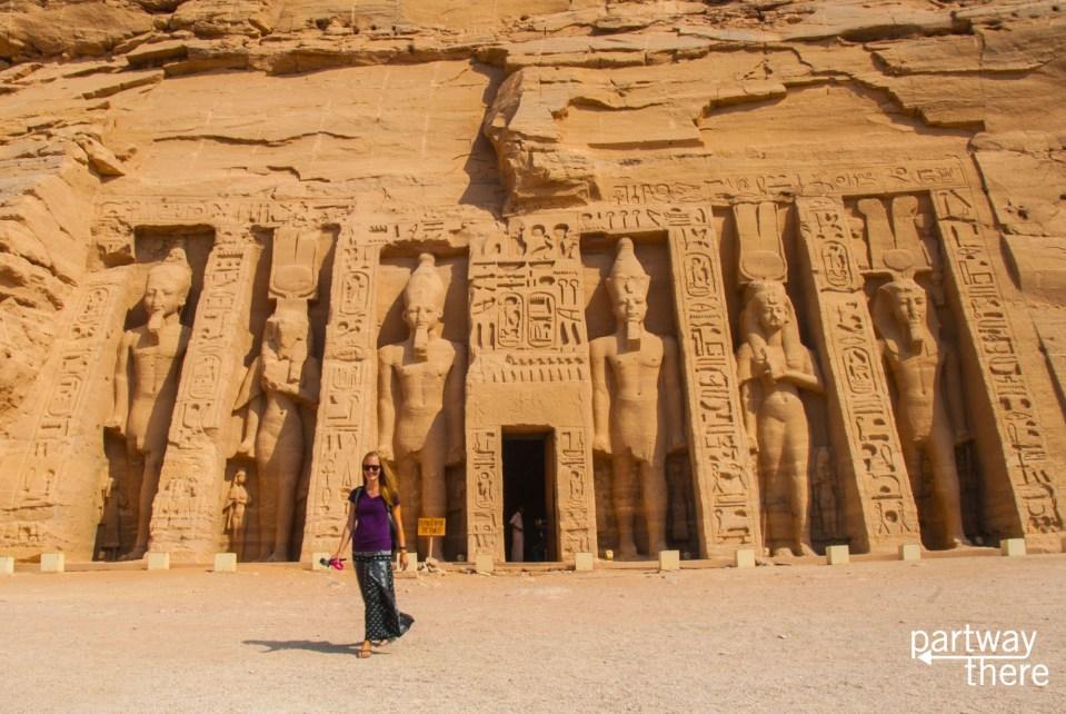 Amanda Plewes at Abu Simbel
