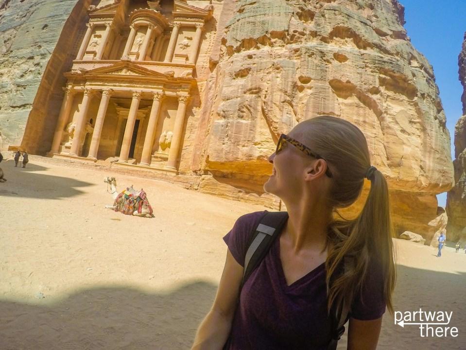 Amanda Plewes at the Petra Treasury