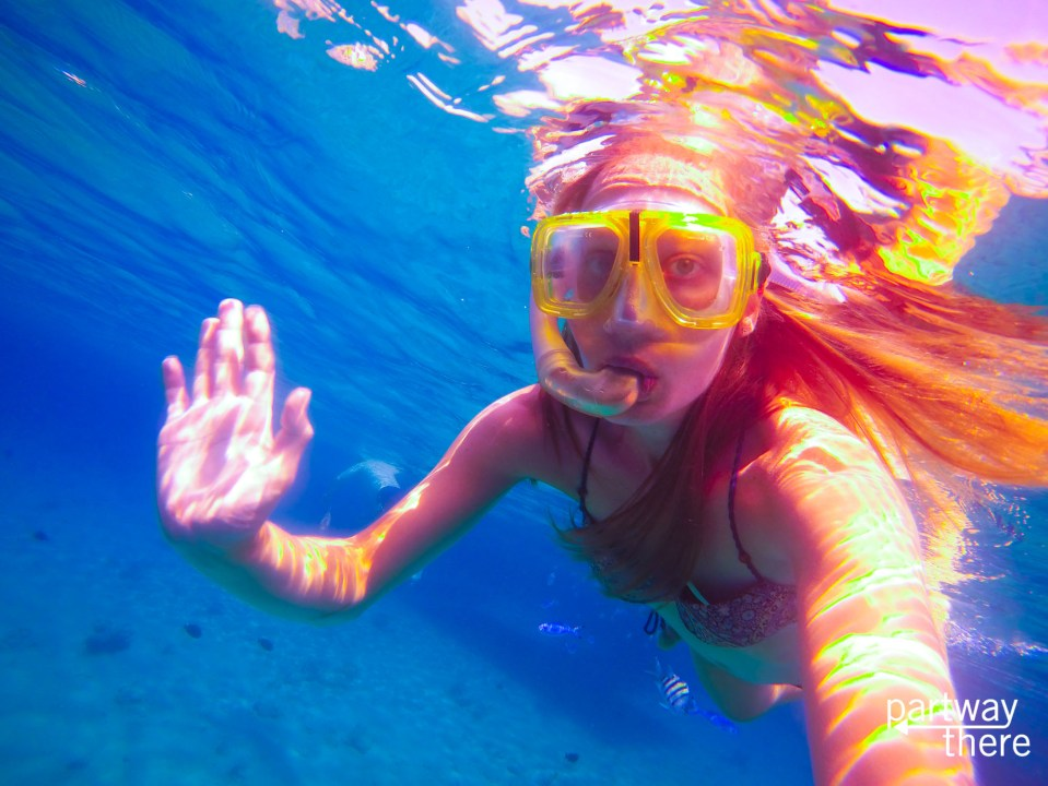 Amanda Plewes snorkeling in the Red Sea in Egypt