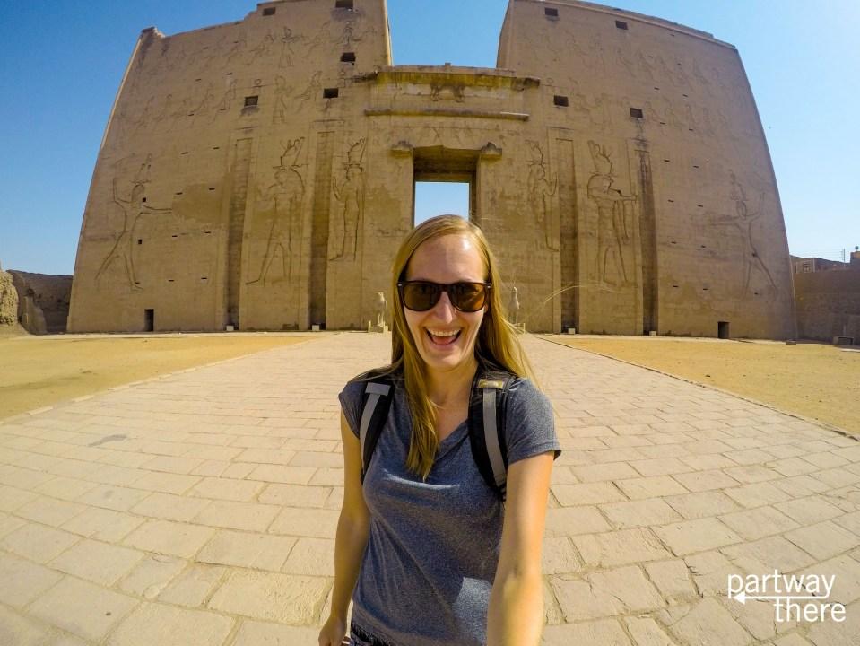 Amanda Plewes at Edfu Temple