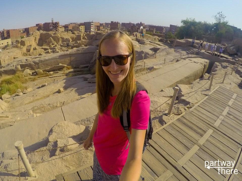 Amanda Plewes at the Unfinished Obelisk
