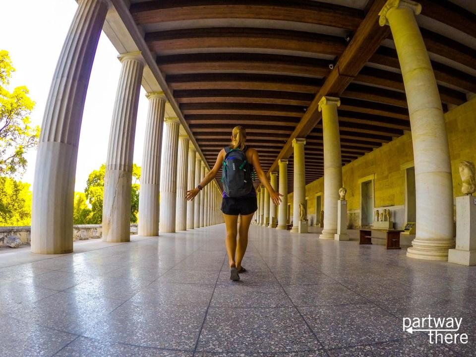 Amanda Plewes at a museum in Athens