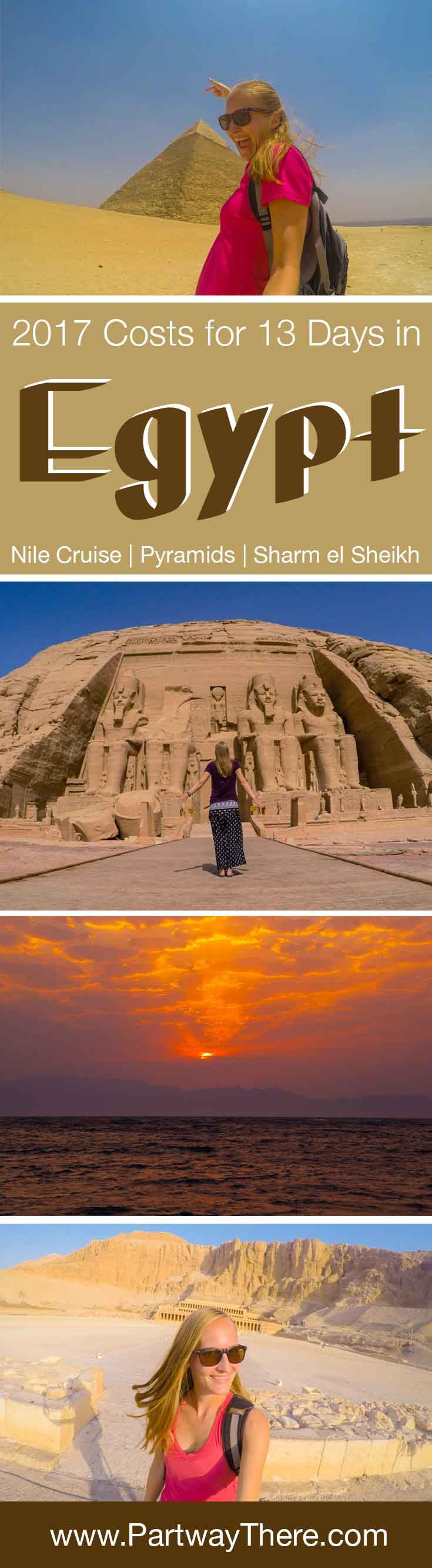 Costs to visit Egypt for 13 days