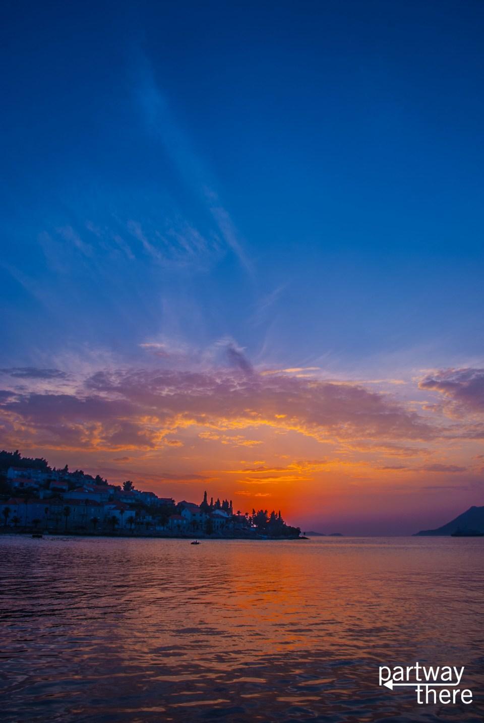 Sunset on Korcula
