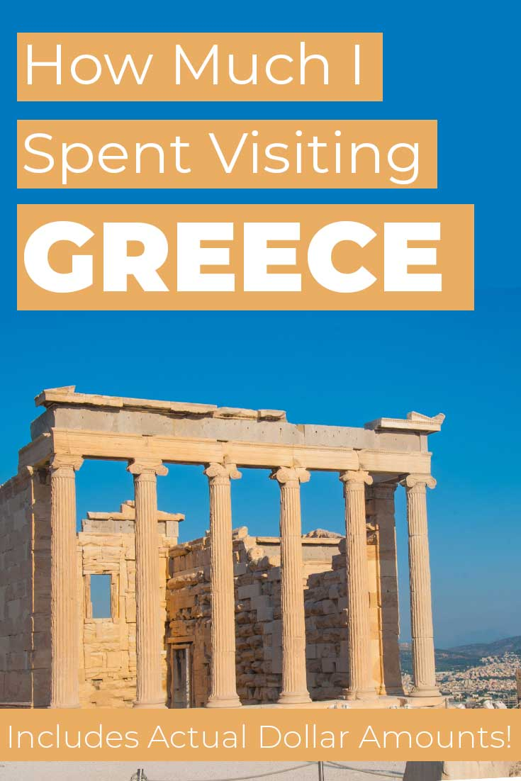 Costs to travel in Greece for 9 days