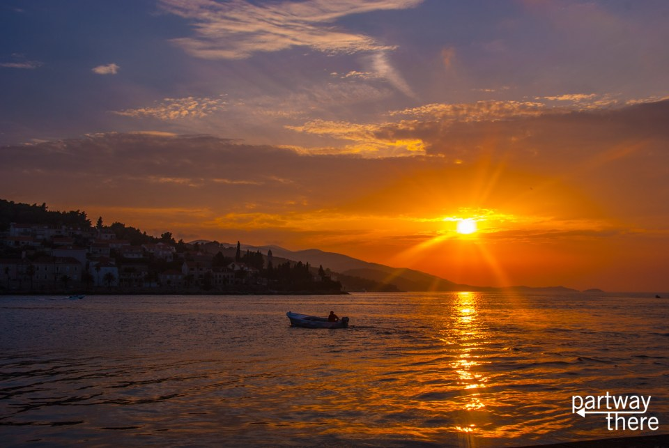 Korcula, Croatia at sunset