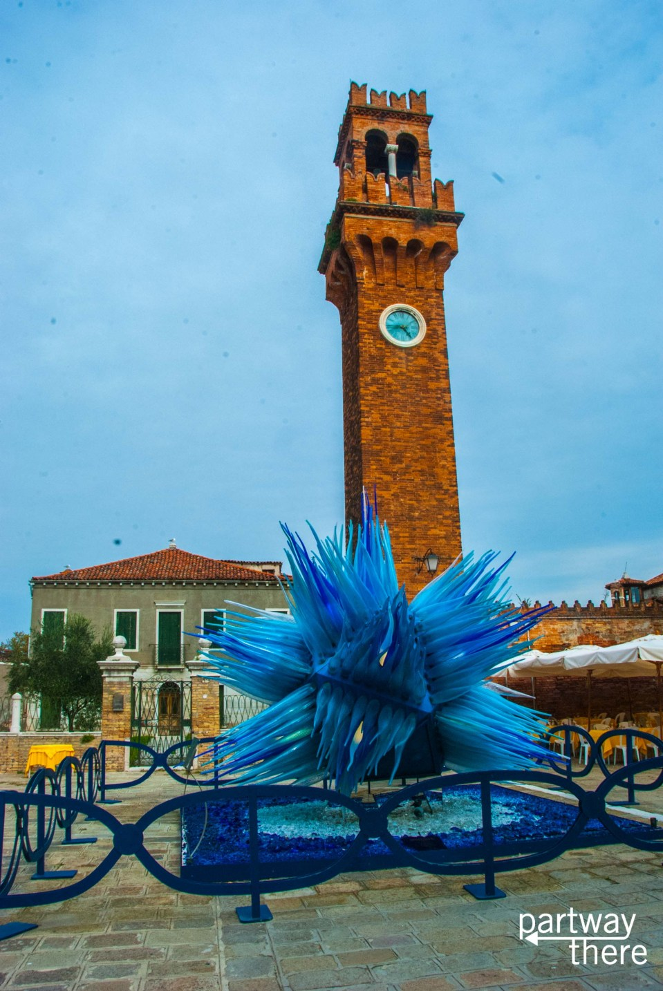 Giant glass sculpture on display in Murano, Italy