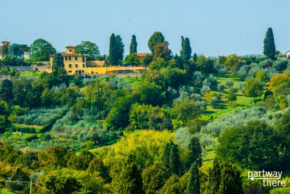 Tuscan countryside near Florence, Italy, as seen from the Piazza Michelangelo