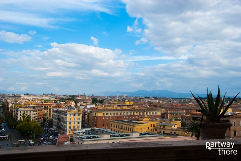A view of Rome from the Vatican