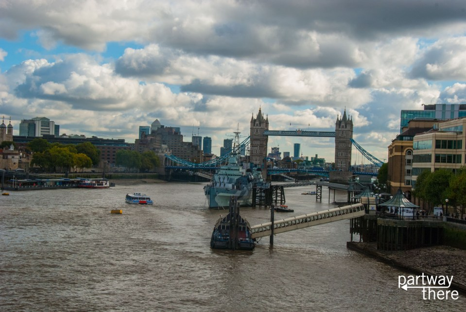 Thames and Tower Bridge taken from London Bridge