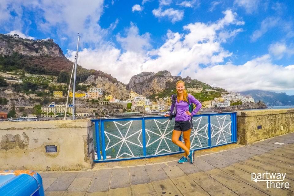 Amanda Plewes on the Amalfi Coast, Italy