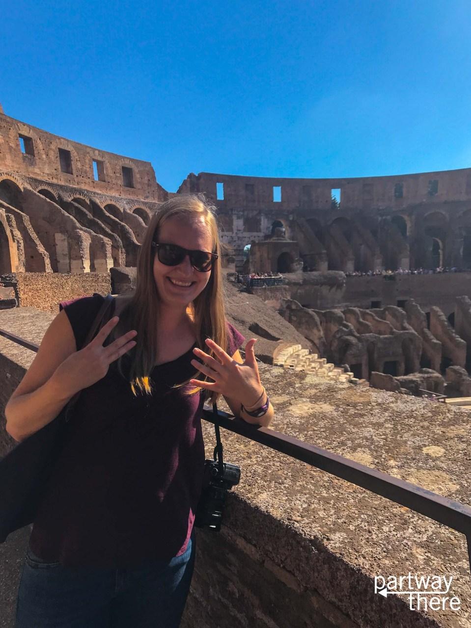 Amanda Plewes at the Colosseum