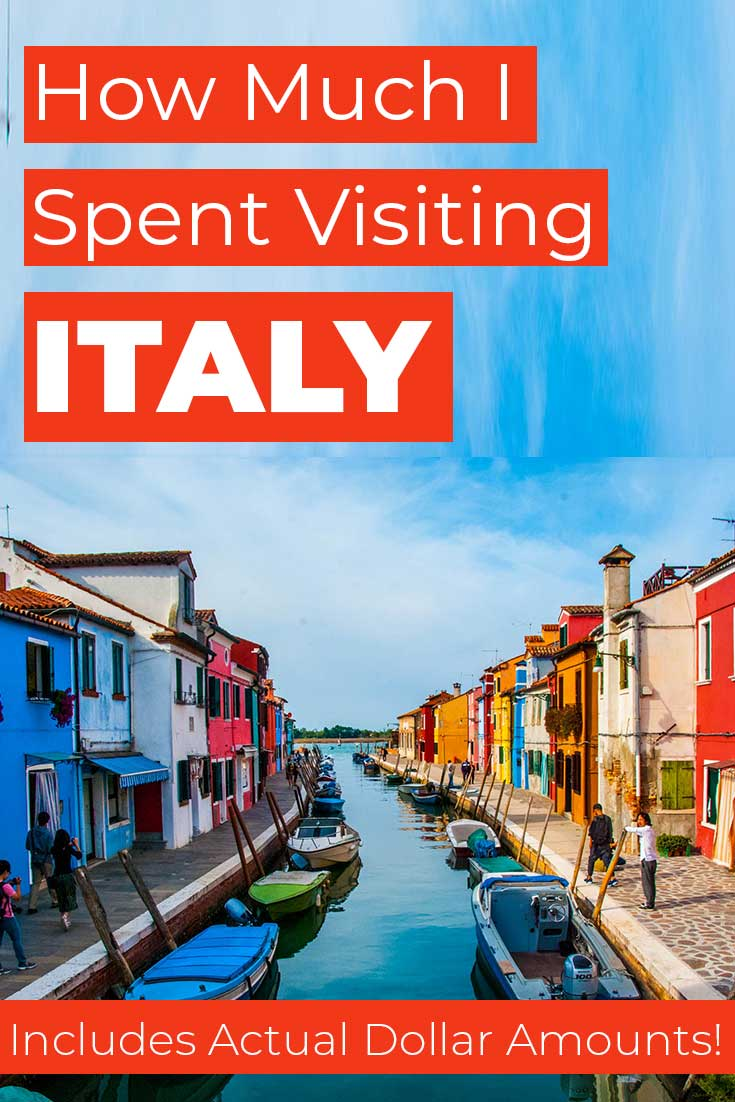 Costs to visit Italy for 22 days