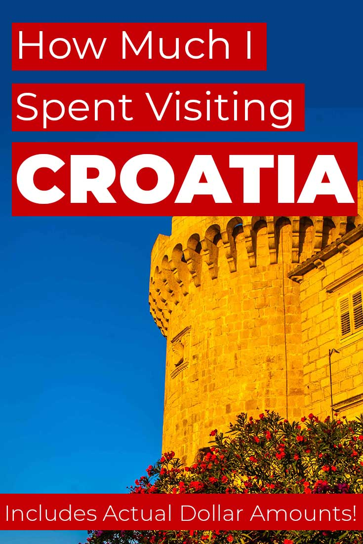Costs to visiting Croatia for 13 days