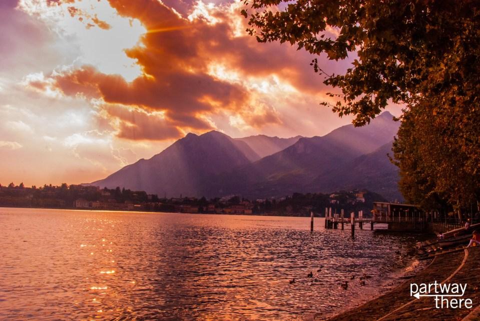Sunset on Lake Como, Italy