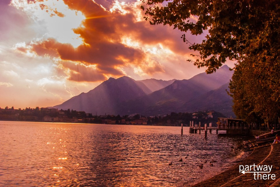 Sunset on Lake Como, Italy