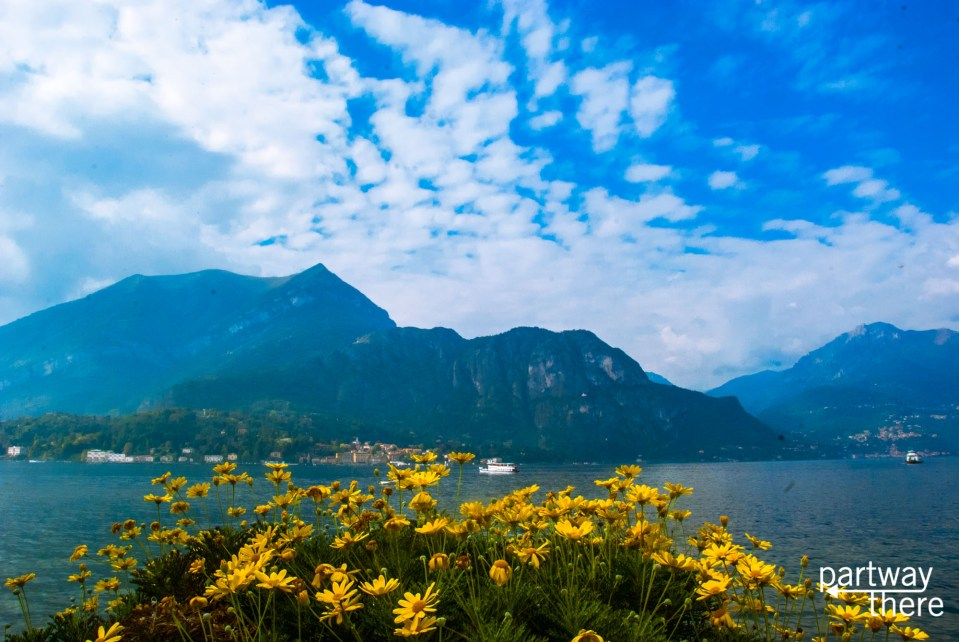 Lake Como in the summer