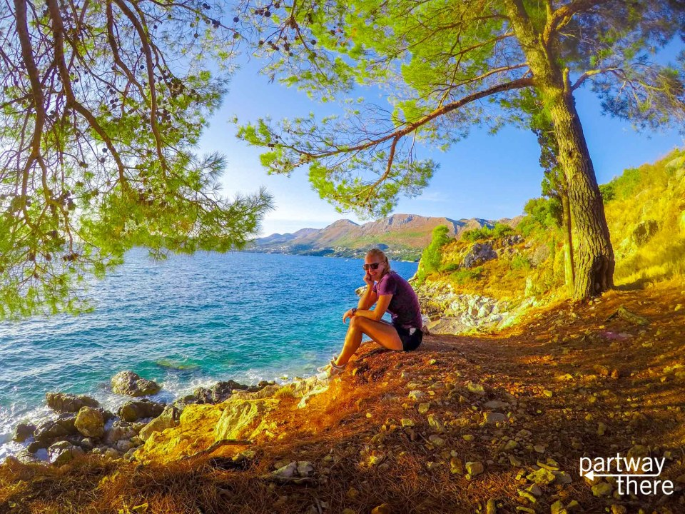 Amanda Plewes in Croatia, taken with a GoPro on a 3-Way Selfie stick, which is one of the best GoPro accessories for travel