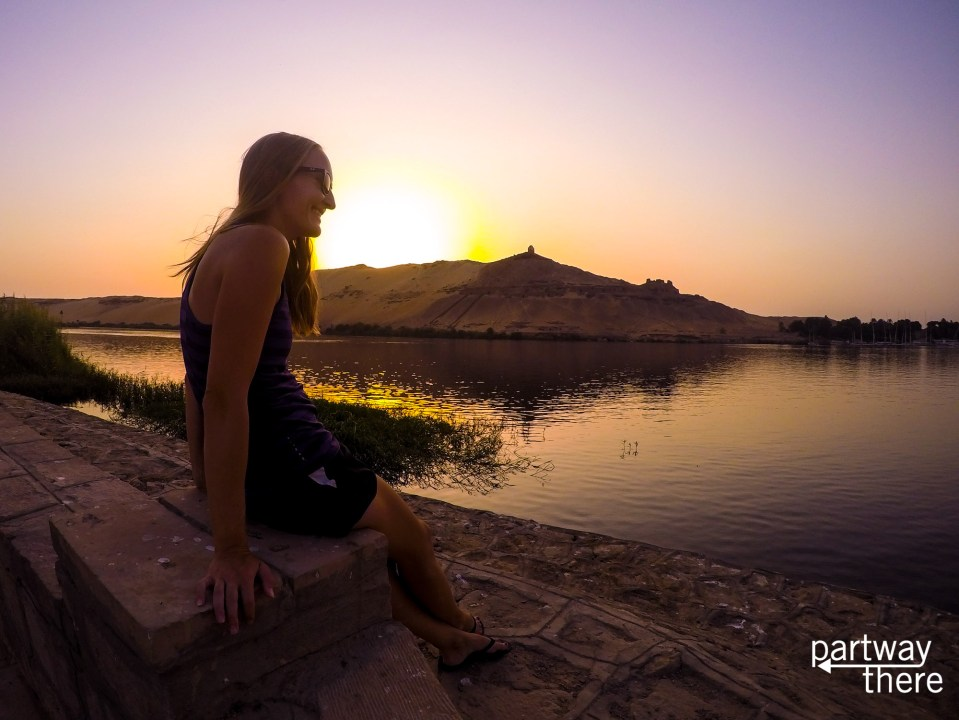 Amanda Plewes on the Nile in Egypt