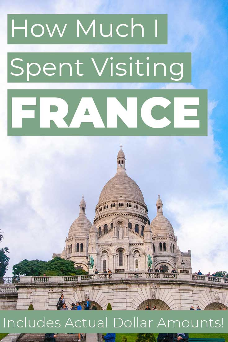 How much I spent visiting France for 7 Days.