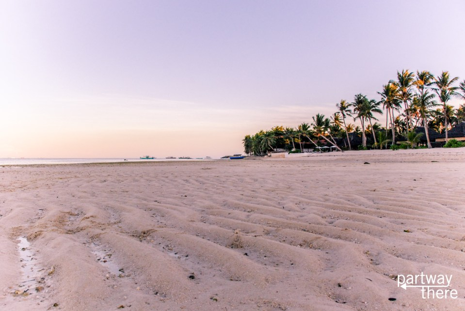 sunrise beach in Siargao