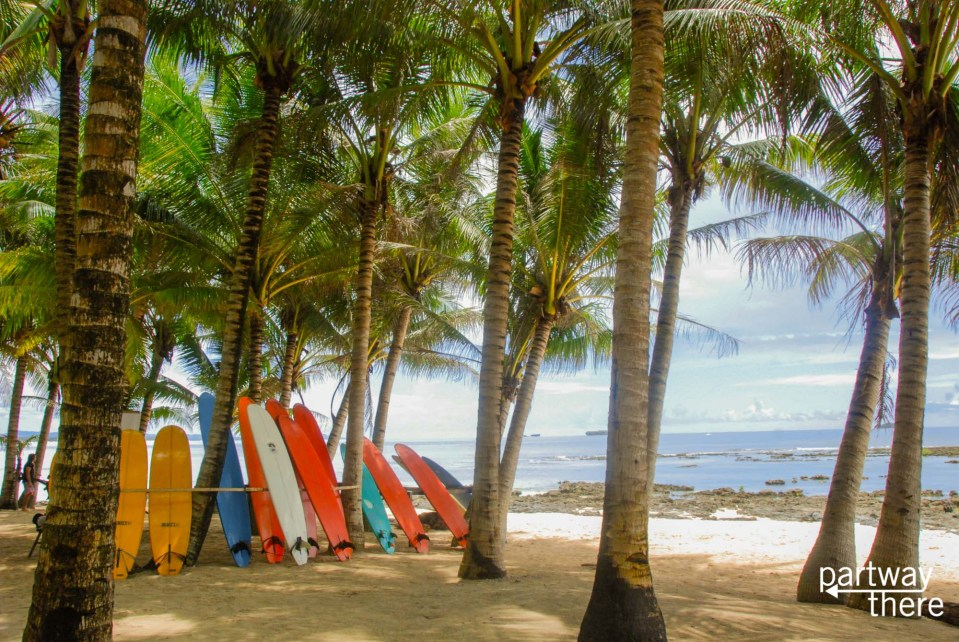 Surfboards on Siargao island